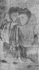 Pl. 59. Yen-Houi. Han-shan et Shih-té. Chine, 13e s. H. 122 cm.