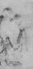 Liang K'ai. Han-shan et Shih-tê. Chine, 1e moitié du 13e s. Sur papier. H. 79 cm.