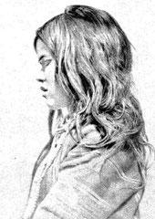 Jeune femme métis choka