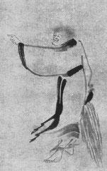 Indara. Han-shan et Shih-tê, détail. Chine, 13e s. Sur papier.