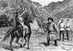 Kara-Tangout à cheval