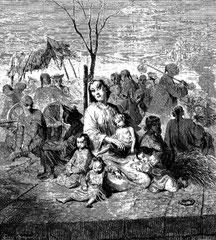 Paysans réfugiés à Shang-Haï