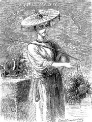 Marchande de légumes à Tien-Tsin