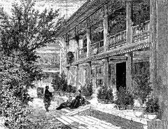 Pékin : Vérandah de la légation anglaise