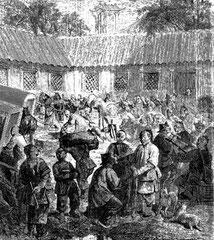 Cour d'auberge à Tchang-ping-tcheou