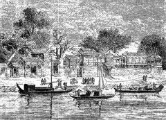 Palais concédé aux missionnaires français, à Tien-Tsin