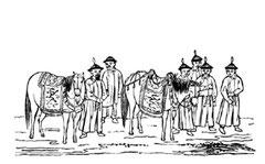 Chevaux de la cour