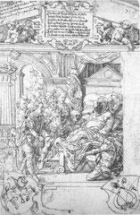 Tobias Stimmer(1562?), Skiluroslegende, Scheibenrissentwurf, Berlin, st.K'bibliothek Inv.881815