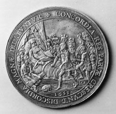 idem recto: König Skiluros ermahnt seine Söhne zur Einigkeit (1653)