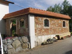 Ziegelmauer rustikal