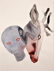 Les Vanités, série de 8 dessins - Lavis d'encre sur papier