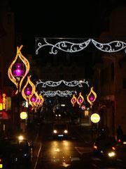 une rue avec ses lampadaires