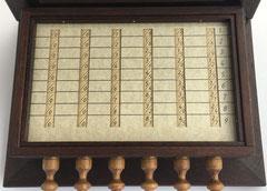 Detalle de la calculadora SCHOTT, año 1668