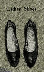 Ladies' Shoes/松岡晶子/ボールペン,デジタルペイント