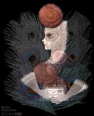 ハンカチ刺繍/松岡晶子digital art(ドロー,ペイント,写真)