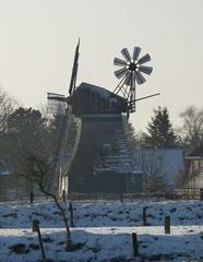 Hemmingstedt - 27.01.2014 -der erste Schnee-  Die Mühle Margaretha