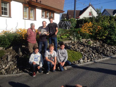 hinten: Mutsch, Biene, Alain / vorne: Severin, Stefan, Christian