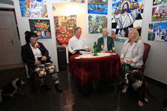 Georgia Kazantzidu, Georg Vetter, Michael Breisky und Karin Kneissl