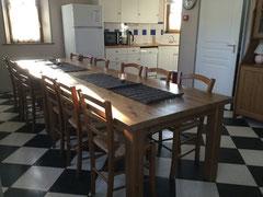 la salle à manger les Mollières Ferme Relais de la Baie de Somme gîtes de groupe baie de somme