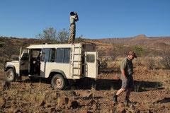 Jürg bei der Nashornpirsch