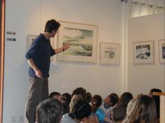 le galerist parle / Der Galerist spricht