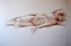 Desnudo. Sanguina sobre papel. 74X49