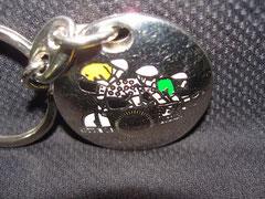 Porte clés Tour de France 2000  verso avec les 3 maillots