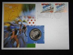 Pièce de 1 écu Pays -Bas Tour de France 1996