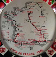 Plateau de café Tour de France 1962