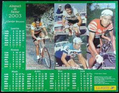 """Almanach du facteur  """" LE TOUR DE FRANCE """" 2003"""