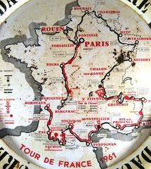 Plateau de café Tour de France 1961