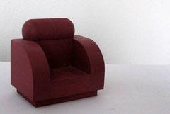 Bauhaus-Sessel dunkelrot