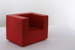 Bauhaus-Sessel rot