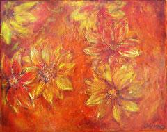 Flowerphantasy, Acrylics on canvas, 38 x 46