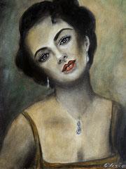 Liz, Acrylics on paper, 40x30