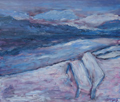 Winterimpressionen, Acryl auf Leinwand, 38 x 46