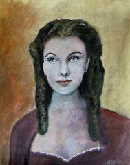 Scarlett, Acrylics on paper, 42x32