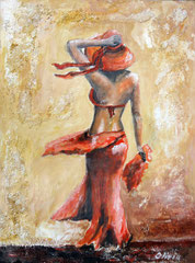 Summer Breeze, Acrylic & mixed media on palmwood, 60x45