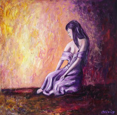 Enchanted, Acrylic on plam wood, 60x60