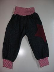 Jeans mit Jersey Appli, Grösse 80