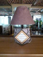 abat jour fait à zodio pied de lampe à l'atelier personnel de martine