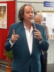 Monsieur Gonzague Saint BRIS pendant son intervention
