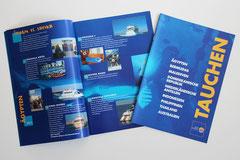 Reisebüro Plenz - hier: Tauch-Reisekatalog - ferner: Anzeigen, Werbegeschenke