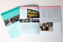 Stadtbibliothek Darmstadt - hier: Imagebroschüre - ferner: Plakate, Aufkleber, Einladungskarten, Flyer