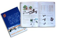 bima GmbH - hier: 400-seitiger Produktkatalog - ferner: Flyer, Anzeigen