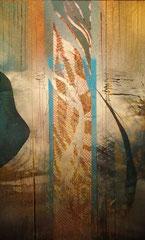 Memento | Mischtechnik auf Glas | 28 x 41 | 380,- mit Sockel