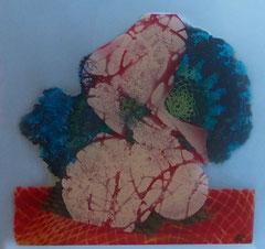 Kokon | Mischtechnik auf Pexiglas | 30 x 30 |verkauft