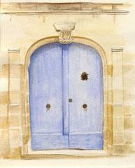 Porte Loches - 10x15cm - Aquarelle - 10€