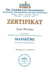 Zertifikat Maniküre