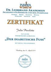 Zertifikat Der Diabetische Fuss
